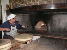 Sardinia, making carasau bread