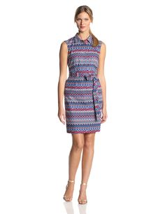 76d67726 Ellen Tracy Women's Sleeveless Pattern Shirtdress ** This is an Amazon  Affiliate link. You