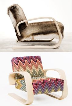 Wooden #armchair with armrests 400 by @Artek   #design Alvar #Aalto (1936)