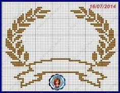 Resultado de imagem para coroa ponto cruz