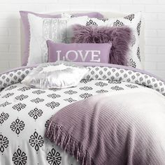 Purple reign collection- dormify dormify essentials in 2019 Purple Dorm Rooms, Purple Bedrooms, Cool Dorm Rooms, Teen Girl Rooms, Girls Bedroom, Bedroom Ideas, Lavender Room, Lavender Bedding, Dorm Bedding Sets