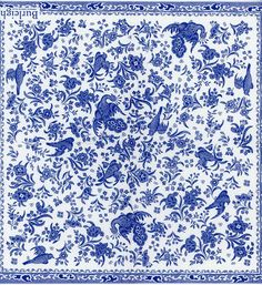 Decoupage Napkins Regal Peacock Porcelain Pattern Classic
