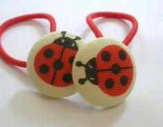 Ladybug Hair Tie