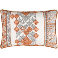 Lend a cultural, hand-crafted look to your space with a Kerio pillow by Surya (KER-001).
