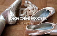done.  love ballet.  wish i was a ballerina.  maybe one day will start again but probably not on pointe again.  will most likely stick to watching :)