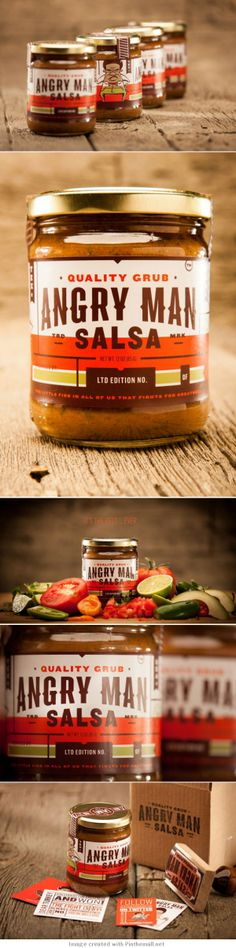 Jar #labels | Angry Man Salsa PD