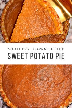 A true way to make Sweet Potatoes Pie from scratch. Southern Classic sweet Potato Pie with brown butter and all your favorite spices to make this dish so creamy and delicious. Homemade Sweet Potato Pie, Sweet Potato Dessert, Sweet Potato Recipes, Black Folks Sweet Potato Pie Recipe, Southern Sweet Potato Pie, Sweet Potato Pecan Pie, Sweet Potato Cheesecake, Köstliche Desserts, Delicious Desserts