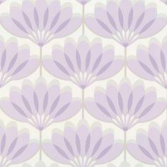 Caselio Cairo Wallpaper Lilac / Grey / White