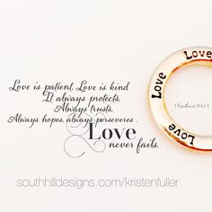 There is nothing greater than Love! Wear it close to your heart.