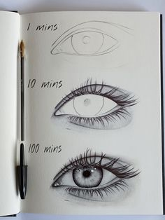 Easy Eye Drawing Tutorials for Beginners – Step by Step Easy Eye Drawing, Realistic Eye Drawing, Eye Drawing Tutorials, Drawing Techniques, Art Tutorials, Drawing Ideas, Drawing Step, Drawing Drawing, Drawing Faces