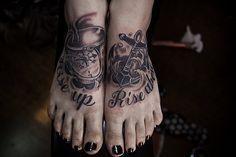 #InkedMagazine #anchor #feet #tattoos #tattoo #inked #Ink
