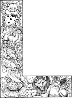 coloring page Alphabet animals on Kids-n-Fun. Coloring pages of Alphabet animals on Kids-n-Fun. More than coloring pages. At Kids-n-Fun you will always find the nicest coloring pages first! Coloring Letters, Alphabet Coloring Pages, Cool Coloring Pages, Animal Coloring Pages, Printable Coloring Pages, Adult Coloring Pages, Coloring Pages For Kids, Free Coloring, Coloring Books