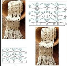 When it comes to crochet, texture and unique stitching are the key to a stunning finished product. The Wynn Hat is just that, with texture that really catches the eye. Crochet Scarf Diagram, Crochet Lace Scarf, Crochet Stitches Patterns, Crochet Chart, Crochet Scarves, Crochet Clothes, Stitch Patterns, Knit Crochet, Bracelet Crochet