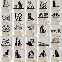 Romantic Acrylic Bride and Groom Wedding Love Cake Topper Party Favors Decor in Home & Garden, Wedding Supplies, Wedding Cake Toppers | eBay