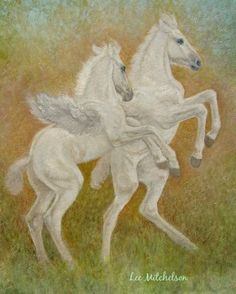 Fantasy Artwork, Pegasus Art, Fantasy Oil Painting by TheArtfulGifter on Etsy