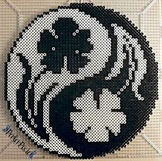 Floral Yin and Yang by PerlerPixie.deviantart.com on @DeviantArt