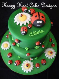 Ladybug Cake Toppers. $28.00, via Etsy.