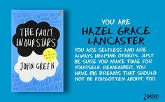 I'm Hazel Grace Lancaster. Which John Green heroine are you?  - Quiz