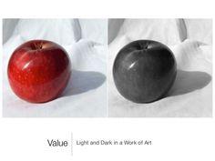 Value by mrsbauerart via slideshare Vfx Tutorial, Value In Art, Color Studies, Elements Of Art, Art Lessons, Light In The Dark, Art Reference, Art Drawings, Artwork