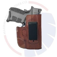 XDS 3.3 45 cal /& 3.3 9mm R hand formed BROWN leather holster with shield IWB
