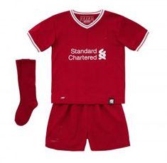 Kids Liverpool 2017-18 Season Home Whole Kit