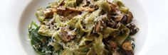 Michelle Obama's lunch at Gramercy Tavern in NYC: Garlicky spinach pasta with mushrooms