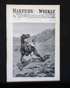 "Harper's Weekly, June 1889 ""The Ambushed Picket"""