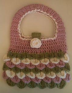 Handmade crochet crocodile stitch handbag now available https://www.etsy.com/listing/194249182/crochet-crocodile-purse-handmade-crochet