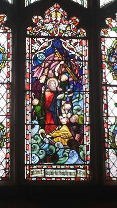 Christ calms the waters. Stokenham Church.