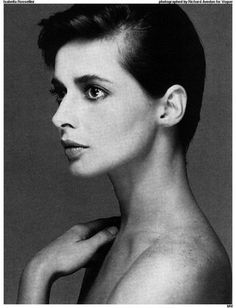 Isabella Rossellini short hair.