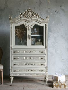Vintage French Style Armoire. I think this Armoire is just stunning..I can almost hear it speaking..the walls are a delight..