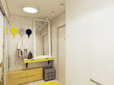 Ремонт маленькой прихожей: отделка стен из кирпича