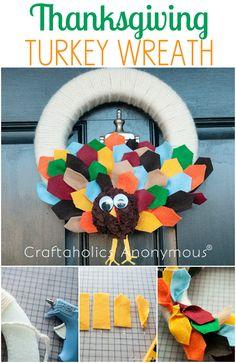 Craftaholics Anonymous® | DIY Thanksgiving Craft: tutorial wreath