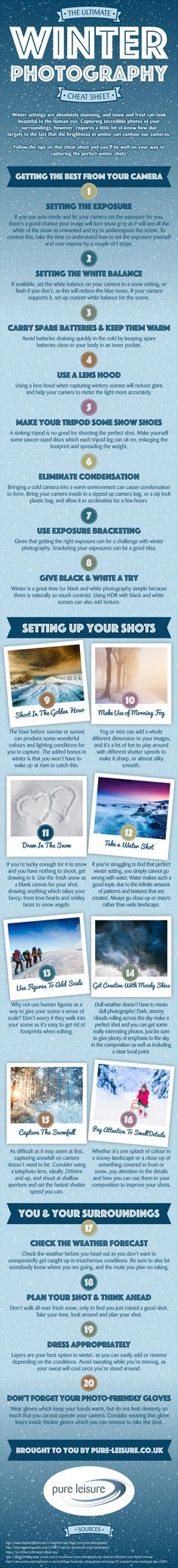 Check out 'The Ultimate Winter Photography Cheat Sheet' to get top tips for taking seasonal shots this winter!