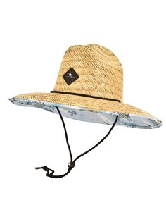 Everyone needs a good straw hat, and the Fazer is the perfect choice. Complete with a woven badge, printed brim lining and tape, a cord with a toggle and an elastic inner headband.