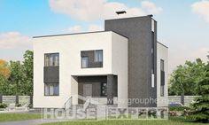 225-001-П Проект двухэтажного дома, средний дом из пеноблока, Уват