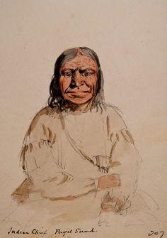 Lockhinum, Capo dei Clallam di Tuanachum. Toanichum era una colonia klallam su Whidbey Island, a Ebey's Landing.