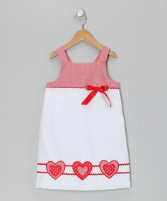 Take a look at this White Lots of Love Dress - Infant, Toddler & Girls by Candyland on #zulily today!