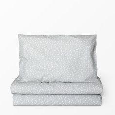 Bäddset mönstrat, 100x130 cm, ljusgrå