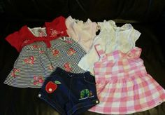Clothes, Shoes & Accessories Bundles Spirited Girls 9-12 Months Dungaree Bundle