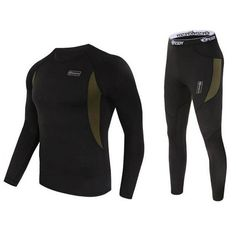 Men Ski Jacket and Pants Thermal Underwear Men Long Johns Quick Dry POLARTEC For Ski/Riding/Climbing/Cycling