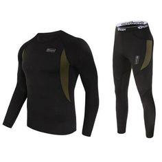 Men Ski Jacket and Pants Thermal Underwear Men Long Johns Quick Dry POLARTEC For Ski/Riding/Climbing/Cycling