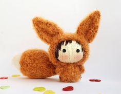 Fennec fox Doll with removable tail pdf knitting door deniza17, $5.00