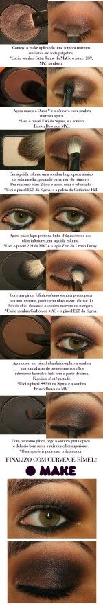 Tuto brown smoky eyes