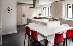 Modern kitchen red