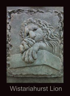 """Wistariahurst Lion"" Bas Relief"