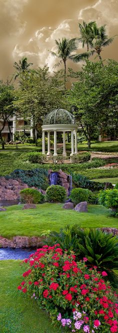 Beautiful garden and gazebo at the Grand Wailea Hotel in Maui, Hawaii • photo: Peter Holme iii on 500px