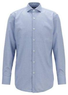 adcadff7b2 BOSS Hugo Slim-fit shirt in dobby cotton micro structure 15.5 R Light Blue