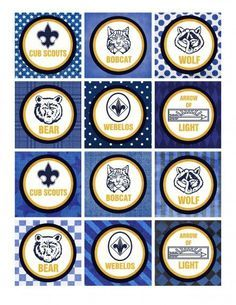 Blue & Gold Printable Pack Cub Scouts Blue and Gold Banquet printables Cub Scout Crafts, Cub Scout Activities, Cub Scout Games, Camping Activities, Cub Scouts Wolf, Tiger Scouts, Gold Party, Cub Scout Blue And Gold Centerpieces, Cub Scout Patches