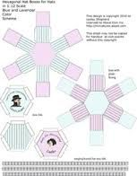 miniature hat box template - Google Search